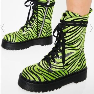 Funky Current Mood Zebra Platform Boots Platforms